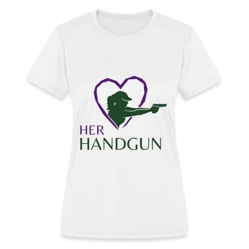 Official HerHandgun Logo - Women's Moisture Wicking Performance T-Shirt