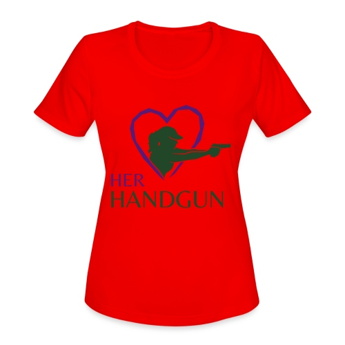 Official HerHandgun Logo - Women's Moisture Wicking Performance T-Shirt