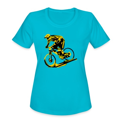 DH Freak - Mountain Bike Hoodie - Women's Moisture Wicking Performance T-Shirt