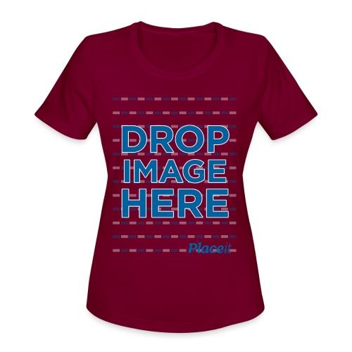 DROP IMAGE HERE - Placeit Design - Women's Moisture Wicking Performance T-Shirt