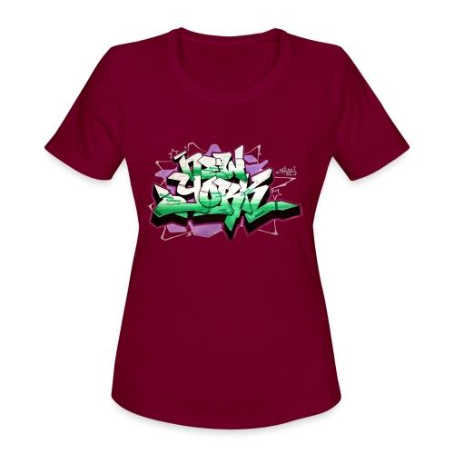 RANGE - Design for New York Graffiti Color Logo - Women's Moisture Wicking Performance T-Shirt