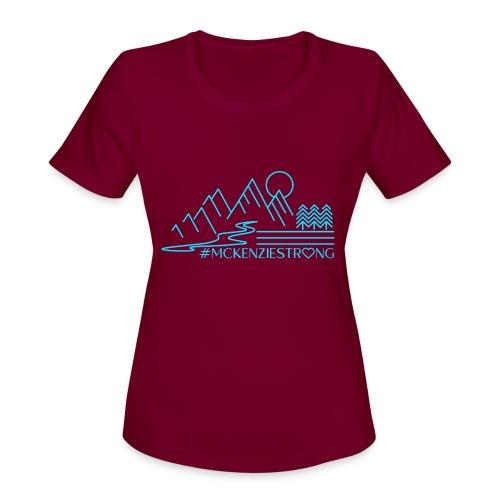 McKenzie Strong TEAL - Women's Moisture Wicking Performance T-Shirt