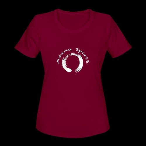 Enso Ring - Asana Spirit - Women's Moisture Wicking Performance T-Shirt