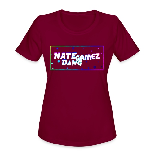 NateDawg Gamez Merch - Women's Moisture Wicking Performance T-Shirt