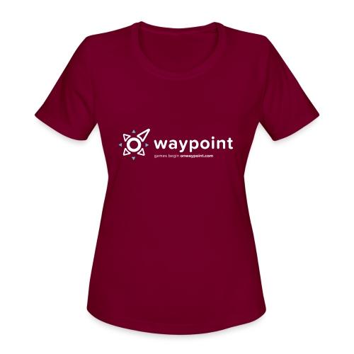 Waypoint Logo (Light Version) - Women's Moisture Wicking Performance T-Shirt