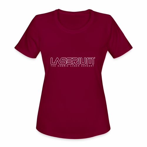 Laserium Logo OL White Tag - Women's Moisture Wicking Performance T-Shirt