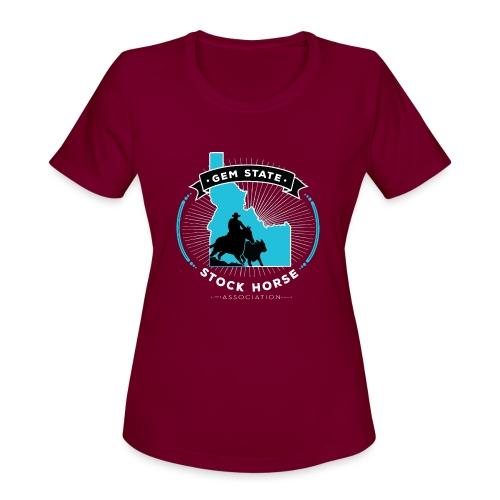 Turquose Sunburst Logo - Women's Moisture Wicking Performance T-Shirt