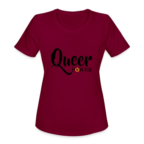 Queer Power T-Shirt 04 - Women's Moisture Wicking Performance T-Shirt