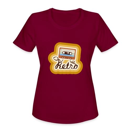 Retro-Cassette - Women's Moisture Wicking Performance T-Shirt