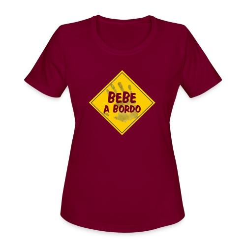 BABY ON BOARD - Women's Moisture Wicking Performance T-Shirt