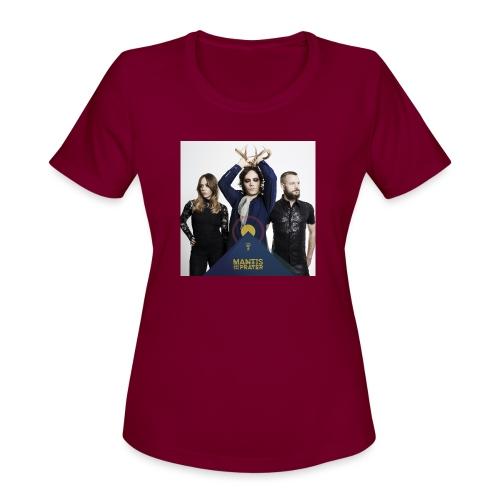 Mantis and the Prayer- Pyramid Design for kids - Women's Moisture Wicking Performance T-Shirt