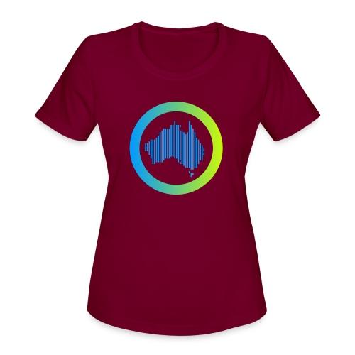 Gradient Symbol Only - Women's Moisture Wicking Performance T-Shirt
