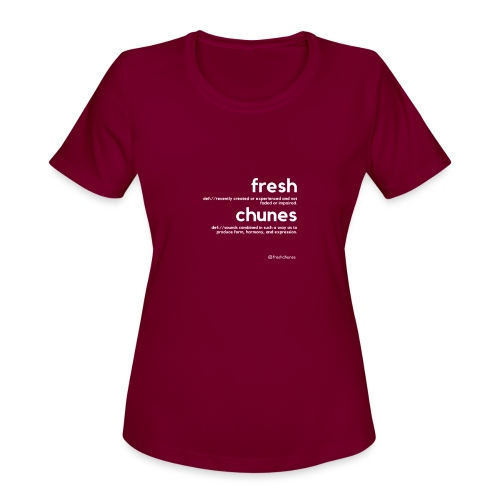 Clothing for All Urban Occasions (Bk+Wt) - Women's Moisture Wicking Performance T-Shirt