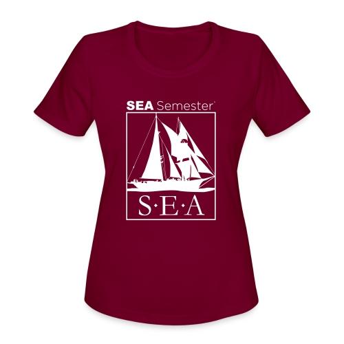 SEA_logo_WHITE_eps - Women's Moisture Wicking Performance T-Shirt
