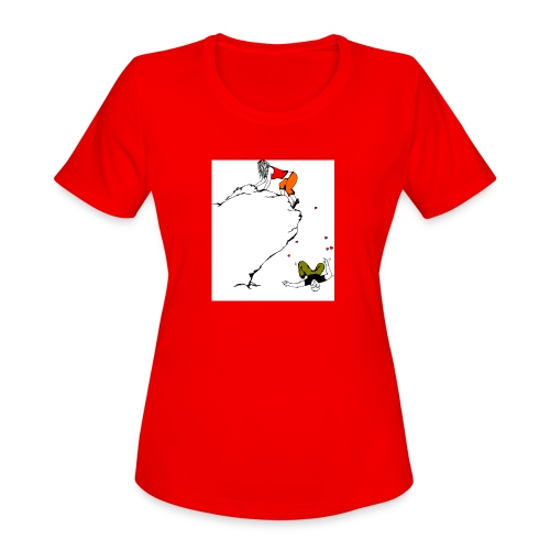 Lady Climber - Women's Moisture Wicking Performance T-Shirt