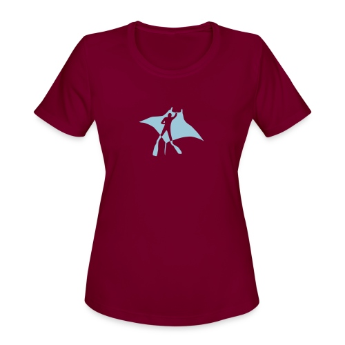 manta ray sting scuba diving diver dive fish ocean - Women's Moisture Wicking Performance T-Shirt