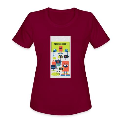 iphone5screenbots - Women's Moisture Wicking Performance T-Shirt