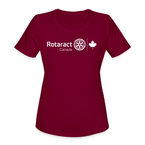Rotaractor At Work - White - Women's Moisture Wicking Performance T-Shirt