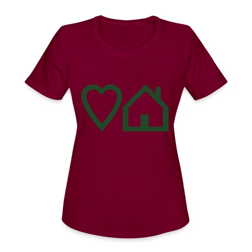ts-3-love-house-music - Women's Moisture Wicking Performance T-Shirt