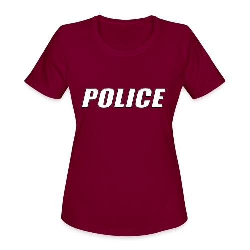 Police White - Women's Moisture Wicking Performance T-Shirt