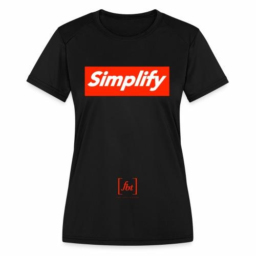 Simplify [fbt] - Women's Moisture Wicking Performance T-Shirt