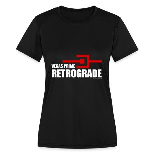 Vegas Prime Retrograde - Title and Hack Symbol - Women's Moisture Wicking Performance T-Shirt