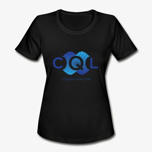 CQL Large Logo Float w URL - Women's Moisture Wicking Performance T-Shirt