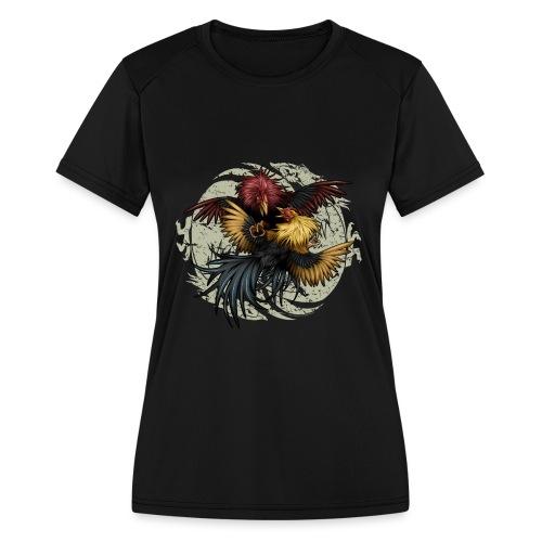 Ying Yang Gallos by Rollinlow - Women's Moisture Wicking Performance T-Shirt