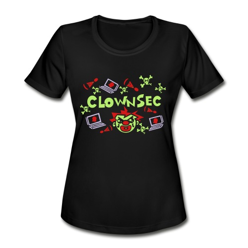 The Clown Hacker - Women's Moisture Wicking Performance T-Shirt