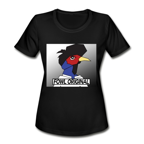 Fowl Original Logo - Women's Moisture Wicking Performance T-Shirt