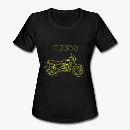 CX500 line drawing - Women's Moisture Wicking Performance T-Shirt