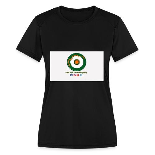 David Doyle Arts & Photography Logo - Women's Moisture Wicking Performance T-Shirt