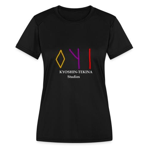 Kyoshin-Tekina Studios logo (white text) - Women's Moisture Wicking Performance T-Shirt