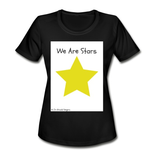 Hi I'm Ronald Seegers Collection-We Are Stars - Women's Moisture Wicking Performance T-Shirt