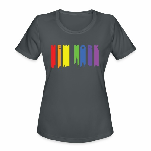 New York design Rainbow - Women's Moisture Wicking Performance T-Shirt