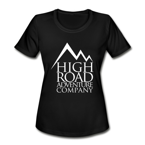 High Road Adventure Company Logo - Women's Moisture Wicking Performance T-Shirt