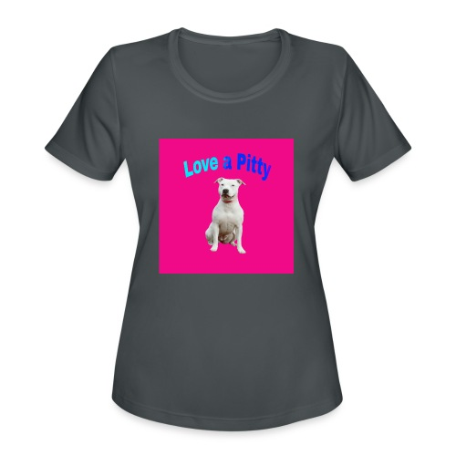 Pink Pit Bull - Women's Moisture Wicking Performance T-Shirt