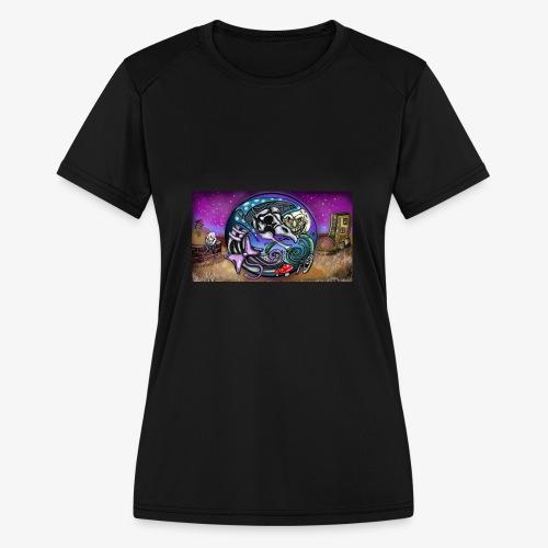 Mother CreepyPasta Land - Women's Moisture Wicking Performance T-Shirt