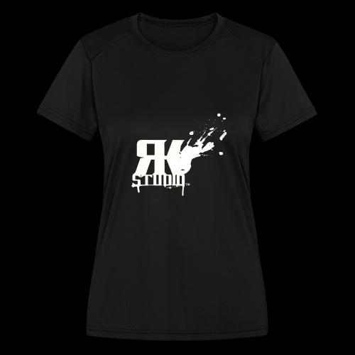 RKStudio White Logo Version - Women's Moisture Wicking Performance T-Shirt
