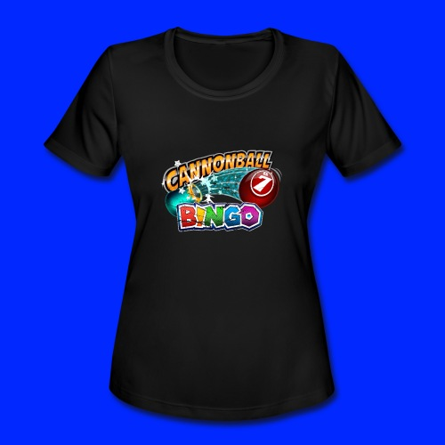 Vintage Cannonball Bingo Logo - Women's Moisture Wicking Performance T-Shirt