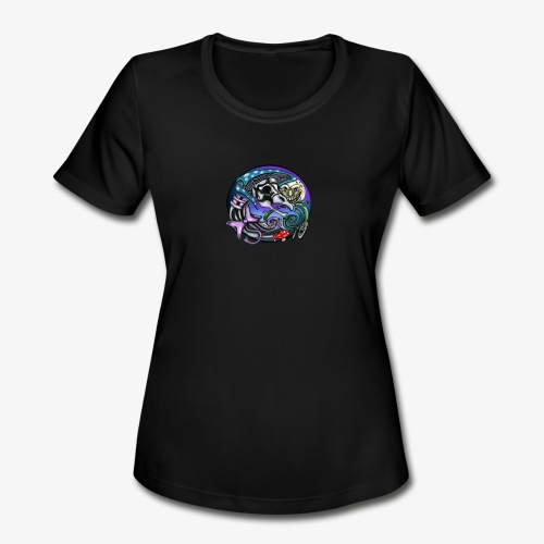Mother CreepyPasta Nursery Rhyme Circle Design - Women's Moisture Wicking Performance T-Shirt