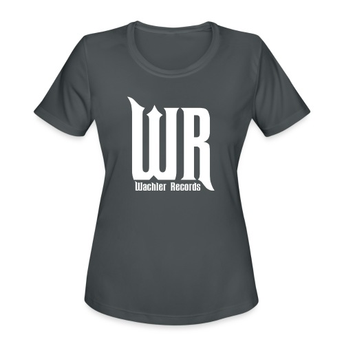 Wachler Records Light Logo - Women's Moisture Wicking Performance T-Shirt
