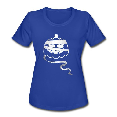 Halloween Bandaged Pumpkin - Women's Moisture Wicking Performance T-Shirt