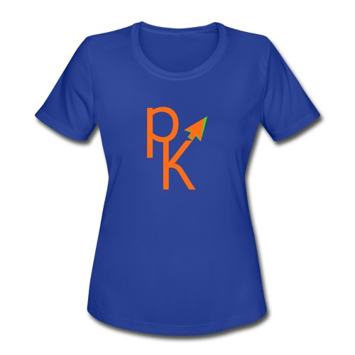 Plusklix Logo - Women's Moisture Wicking Performance T-Shirt
