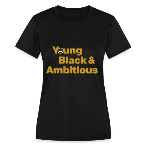 YBA Black and Gold Shirt2 - Women's Moisture Wicking Performance T-Shirt