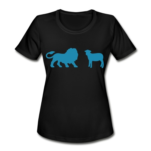 Lion and the Lamb - Women's Moisture Wicking Performance T-Shirt