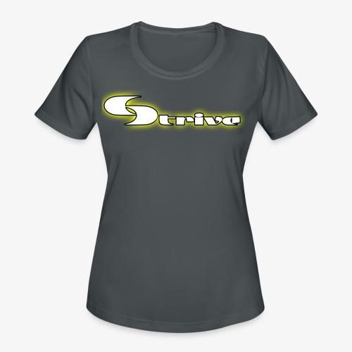 Strive Written Logo - Women's Moisture Wicking Performance T-Shirt
