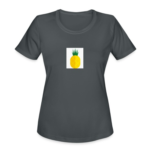 Pixel looking Pineapple - Women's Moisture Wicking Performance T-Shirt