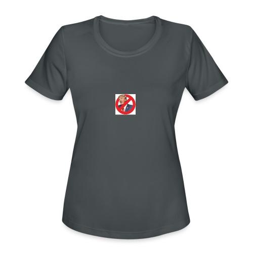 blog stop trump - Women's Moisture Wicking Performance T-Shirt