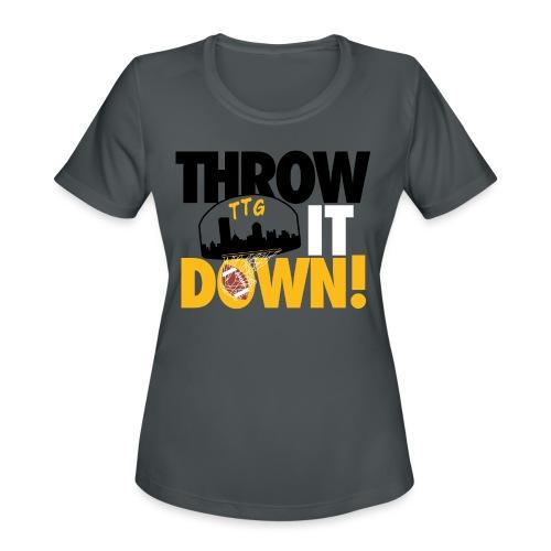 Throw it Down! (Turnover Dunk) - Women's Moisture Wicking Performance T-Shirt